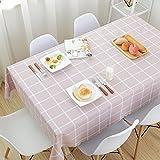 HOMEJYMADE Rechteckige Karierten tischdecke,Oilproof Wasserdichte Heavy Duty Tisch Decken-D 110x160cm(43x63inch)