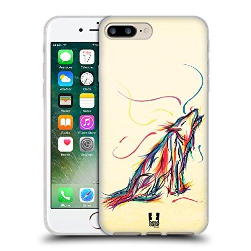 Head Case Designs New York Monumenti Dei Paes Cover Morbida In Gel Per Apple iPhone 7 Plus / 8 Plus Lupo