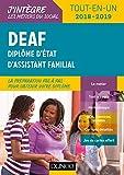 DEAF - Tout-en-un 2018-2019 : Diplôme d'État d'assistant familial (J'intègre les métiers du social)