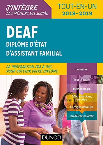 DEAF Diplôme d'État d'assistant familial - Tout-en-un 2018-2019 par Corinne Verdu