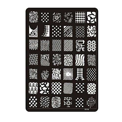 Suse nstone Nail Stamping Plaque de pression d'image timbres Plaque de manucure ongles d'art de décor