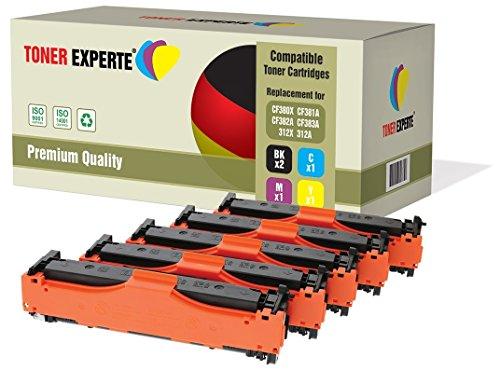 Preisvergleich Produktbild TONER EXPERTE® 5 Premium Toner kompatibel zu HP 312X / 312A CF380X CF381A CF382A CF383A für HP Colour Laserjet Pro MFP M476DN,  M476DW,  M476NW