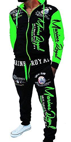 Yalvis ARMS (Schwarz-Grün, 5XL Neon-grüne Hose