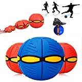 KidszoneUfo Magic Ball Magic Flying Saucer Ball Lost Ball Frisbee Ball Catch Ball Flash Darts Deformation Ball Frisbee Flying Discs Toy Soccer Toys(Multicolor)