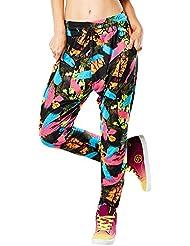 Zumba Fitness Da Funk Harem Dance Pants - Pantalón para mujer, color verde, talla S