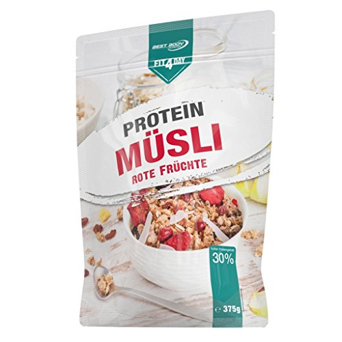 Best Body Nutrition Fit4Day Protein Müsli, 375g Beutel, Schoko (2er Pack)