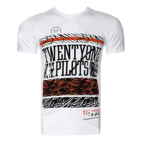 Twenty One Pilots - Top - Maniche corte - Uomo bianco Medium
