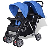 Best Dual Strollers - Festnight Baby Tandem Stroller/Pram Lightweight Pushchair - Blue Review