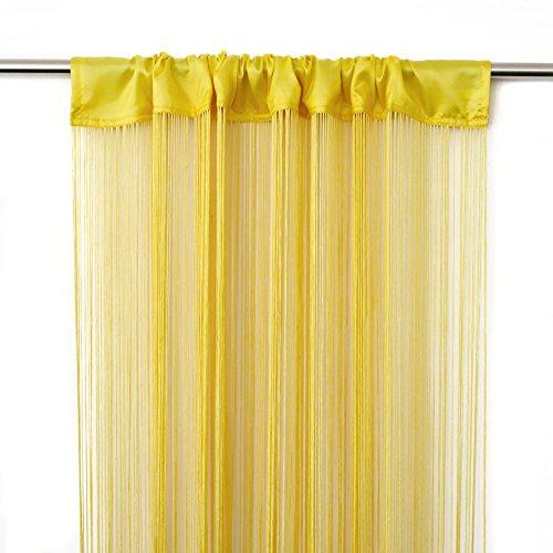Victoria m leonora tenda a fili 100 x 245 cm, gialla