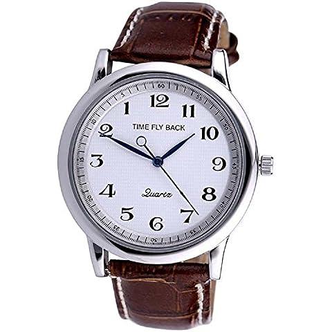ANNA&JOE Impermeabile in pelle cinturino orologio al quarzo