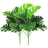 2 pezzi Piante artificiali all'aperto - Verde di plastica falsa Arbusti tropicali Foglie di palma per interni esterni Home House Garden Office Decorazioni per matrimoni
