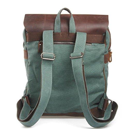 Europa e negli Stati Uniti gli uomini e donne tela cavallo a tracolla o borsa da viaggio tempo libero Marea pacchetto, dark gray grass green