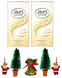 Lindt Lindor Irresistibly Smooth White Chocolate, 100gm- (Pack of 2) Combined with X'MAS GOODIES