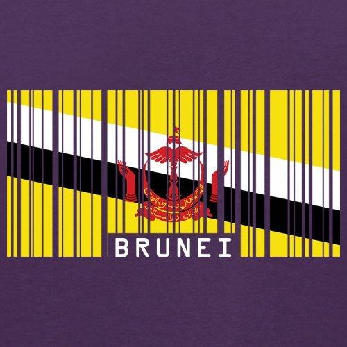 Brunei Barcode Flagge - Herren T-Shirt - 13 Farben Lila