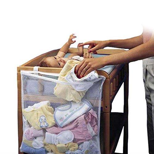 Gazechimp Bolso Organizador de Almacenamiento Ropa Panal Juguetes Cuarto de Niños Bebés Chicas Regalo Lindo - Blanco