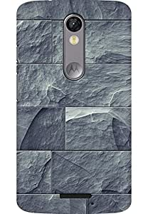AMEZ designer printed 3d premium high quality back case cover for Moto X Force (Rock Wall Brick Texture iPhone 5 Wallpaper)