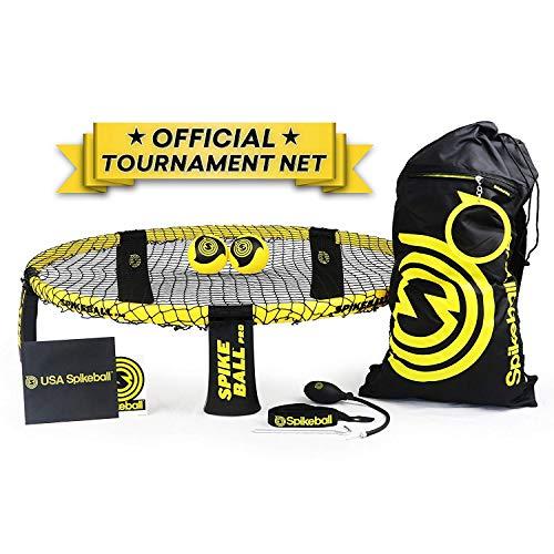 Spikeball Pro Kit (Turnier Edition) - Mit verbessertem, stärkerem Netz, neu designten Bällen für mehr Spin, tragbarer Luftpumpe und Messring, Rucksack - Bekannt aus der TV-Sendung Shark Tank