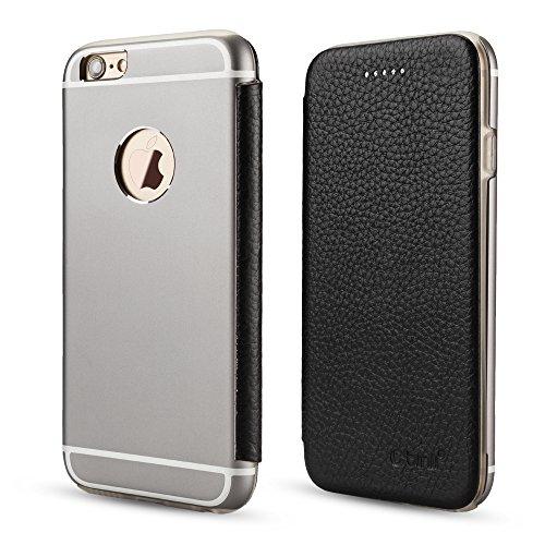PhoneStar Premium Genuine Leather Custodia protettiva copertura posteriore di alluminio