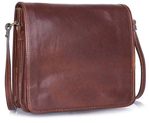 Big Handbag Shop , Sacs bandoulière femme Dark Tan - Medium Size