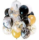 COSMOERY 40 Stück Luftballons, Ballon Latex Ballons in 4 Halloween, Weihnachten, Geburtstagsfeiern, Party, Hochzeitsfeiern usw.