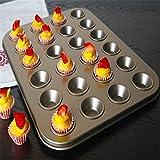 Home Backform 24 Mini Mini Nonstick Kuchenform Mini 24 Twist Ei Nudeln mit Antihaftbeschichtung, Golden
