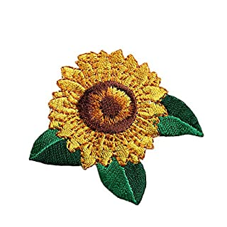 altotux 5,7cm Sonnenblume selbstklebend Embroidered Iron on Aufnäher Aufkleber Patch