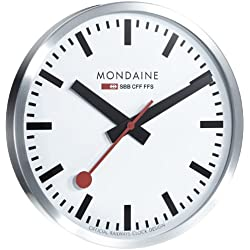 Mondaine Round Wall Clock 40 Cm Diam., A995.CLOCK.16SBB