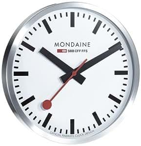 mondaine clock wanduhr schweizer bahnhofsuhr. Black Bedroom Furniture Sets. Home Design Ideas