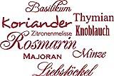 GRAZDesign Geschenk Frau Geburtstag Gewürze - Sprüche Wandtattoo Rosmarin - Wandtattoo Küche günstig viele Sorten - Wandtattoo Küche Kräuter / 60x40cm / rot / 620100_40_031