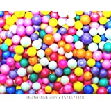 Lovely Arts Collection Women's Net Tulle Thermocol Small Balls (Multicolour)-2500 Pieces