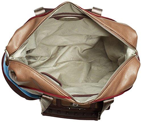 Poodlebag LINZ 3GC0814LINZT Unisex-Erwachsene Schultertaschen 35x15x30 cm (B x H x T) Beige (Taupe)