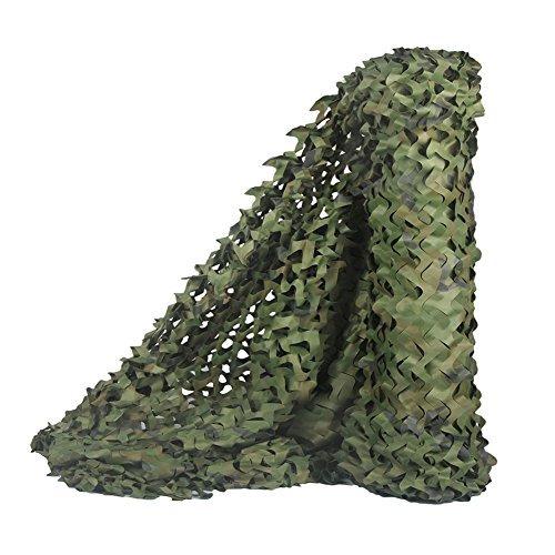 Malla de camuflaje militar de Sitong para decorar, camufar y dar sombra, Woodland, 1.5Mx2M(4.9ftx6.6ft)