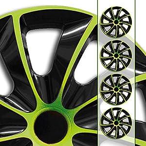 universal Radzierblenden AGAT Gr/ün passend f/ür fast alle Fahrzeugtypen 15 Zoll Radkappen Gr/ö/ße w/ählbar