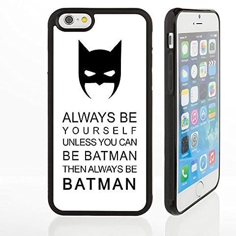 Coques avec citations célèbres et humoristiques pour modèles iPhone Coques fines en caoutchouc de silicone, 3. Batman Quote, iPhone 5/5S/SE