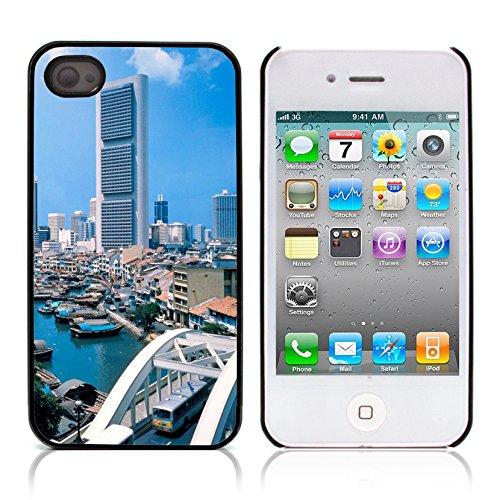 Graphic4You Hong Kong Postkarte Ansichtskarte Design Harte Hülle Case Tasche Schutzhülle für Apple iPhone 4 und 4S Japan #1
