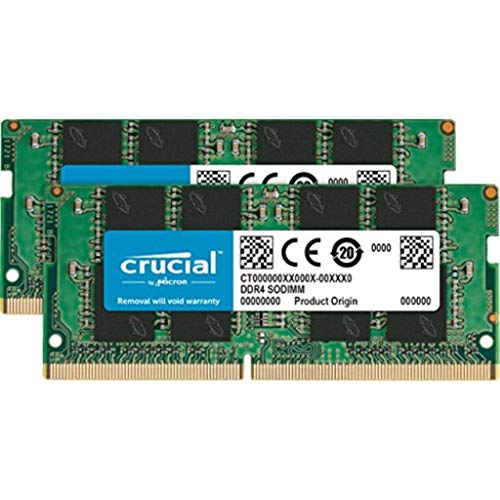 Crucial CT2K8G4SFD824A 16GB (8GB x2) Speicher Kit (DDR4, 2400 MT/s, PC4-19200, Dual Rank x8, SODIMM, 260-Pin) -
