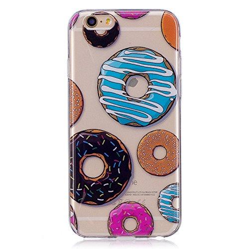 iPhone 6S Plus Hülle, Voguecase Silikon Schutzhülle / Case / Cover / Hülle / TPU Gel Skin für Apple iPhone 6 Plus/6S Plus 5.5(Rohr Katze 01) + Gratis Universal Eingabestift Donuts 12