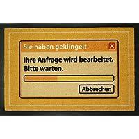 EMPIRE Merchandising 662958Request Orange Doormat 60x 40cm Polypropylene