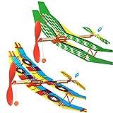 Gogogo Flugzeug DIY Gummiband Angetrieben Doppeldecker Kinder Spielzeug
