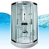 AcquaVapore DTP8058-0002 Dusche Dampfdusche Duschtempel Duschkabine 80x80, EasyClean Versiegelung der Scheiben:2K Scheiben Versiegelung +89.-EUR