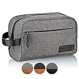 TRAVELSEVEN® Premium Kulturtasche XL, Sehr geräumig, Mehrere Innentaschen, Für Damen und Herren, Robust, Wasserabweisend (Dunkelgrau)