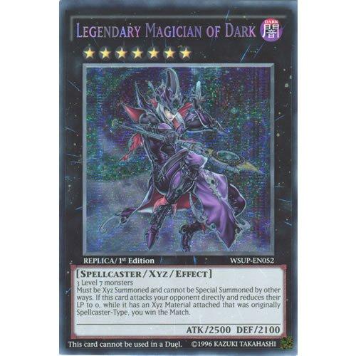 Yu Gi-Oh: wsup-en0521. Ed legendären Magician von Dark Secret Rare Karte-(World Superstars Yu-Gi-Oh. Single Karte) - Yu-gi-oh-karte Dark Magician
