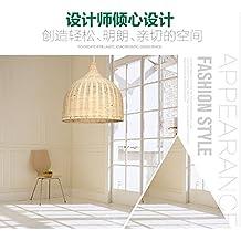 Baredury Garten Rattan Kronleuchter Sdostasiatischen Hotpot Restaurant Wohnzimmer Schlafzimmerbalkon Lampen Und Dekorative Leuchten