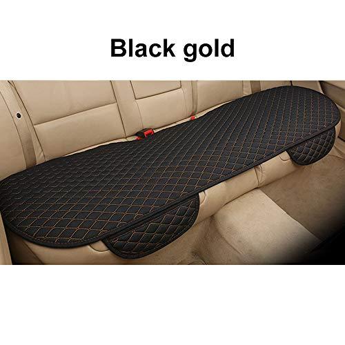 Zzh seggiolino auto cuscino sedile posteriore traspirante universale comodo sacchetto di immagazzinaggio coprisedile sedile protector car seat cushion nero dorato