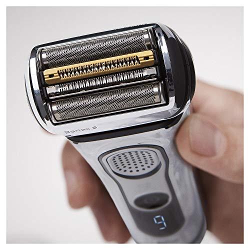 Braun Series 9 9296cc Premium Edition \nelektrischer Rasierer, mit Reinigungs- und\nLadestation, Leder-Etui, chrom