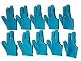 #6: Billiedge 10x Sky Blue 3 finger Billiards Snooker and Pool Gloves