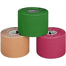 ALPIDEX 3 rollos Kinesiología tape 5 m x 5,0 cm cinta kinesiologica en varias colores