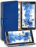 MoEx Cover a Libretto Compatibile con Samsung Galaxy Note 3 Neo | Fessura Carta + Soldi, Supporto, Blu Scuro