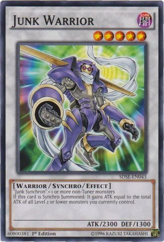 Yu-Gi-Oh! - Junk Warrior (SDSE-EN043) - Structure Deck: Synchron Extreme - 1st Edition - Common by Yu-Gi-Oh!