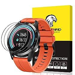 SPGUARD Schutzfolie Kompatibel mit Huawei Watch GT 2 46mm Schutzfolie [3 Stück] für Huawei Watch GT 2 46mm Panzerglas [2.5D 9H Härte] [Blasenfrei]